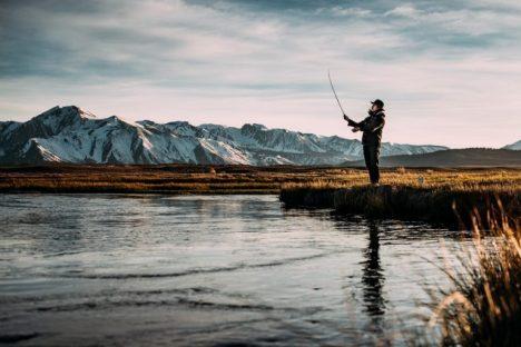 pêcheur pleine nature